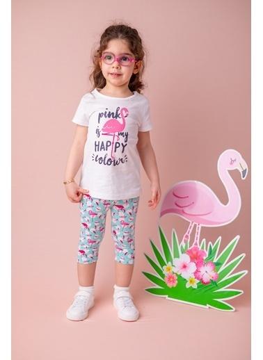 Zeyland Beyaz Flamingo Desenli T-Shirt (9ay-4yaş) Beyaz Flamingo Desenli T-Shirt (9ay-4yaş) Beyaz